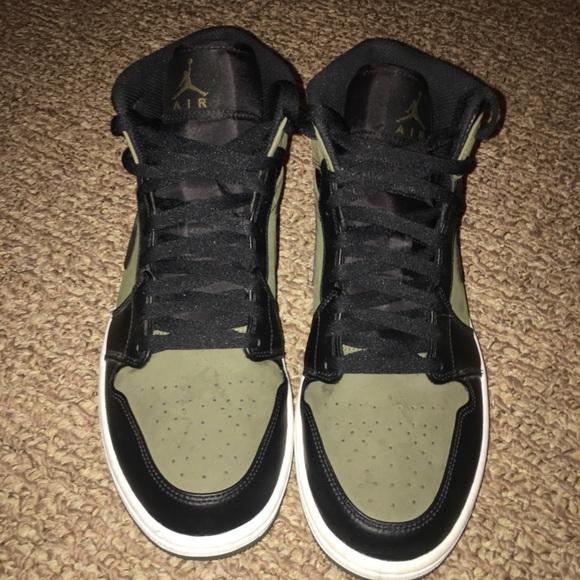 Air Jordan 1s retro olive green